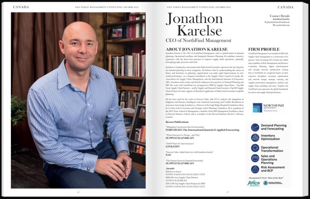 Jonathon Karelse: SEO Today Management Consulting Awards 2021